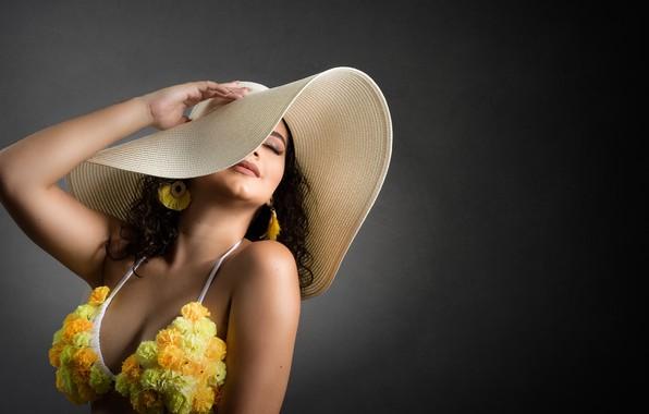Картинка девушка, шляпка, Camila