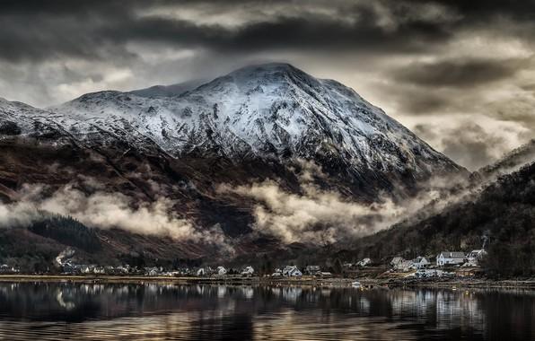 Картинка Scotland, Reflections, Village of Glencoe