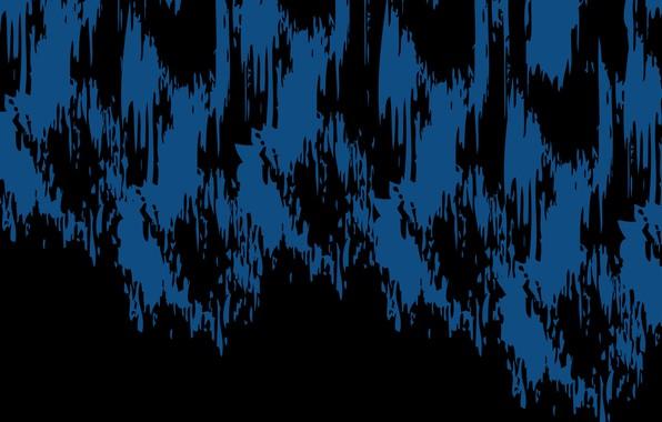 Картинка синий, абстракция, чёрный, пятна