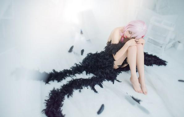 Картинка грусть, белый, девушка, свет, лицо, пространство, поза, стиль, одиночество, комната, настроение, ноги, печаль, черный, нежность, …