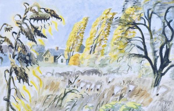 Картинка 1950, Charles Ephraim Burchfield, October Sunlight