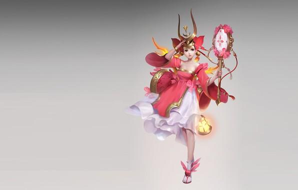 Картинка игра, фэнтези, арт, v wei, дизайн костюма., 红女娃儿