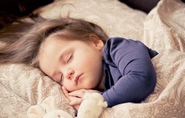 Картинка girl, toy, sleep, Child