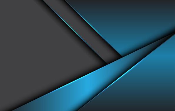 Картинка линии, серый, Синий, design, металлик, background, material