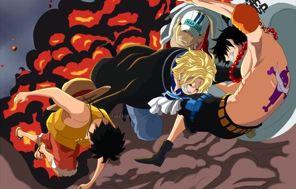 Картинка One Piece, персонажи, Ван Пис, парени