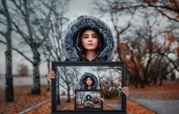 Картинка осень, экспозиция, фотошоп, картина