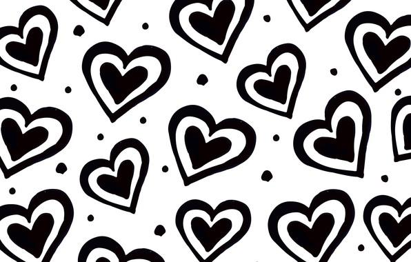 Картинка текстура, сердечки, белый фон, Background, Heart