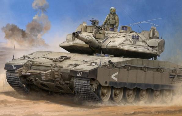 Картинка израиль, основной боевой танк, Vincent Wai, Merkava, IDF, ЦАХАЛ, MBT, Merkava Mk.IV