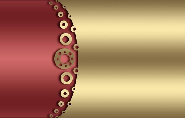Картинка круги, фон, золото, текстура