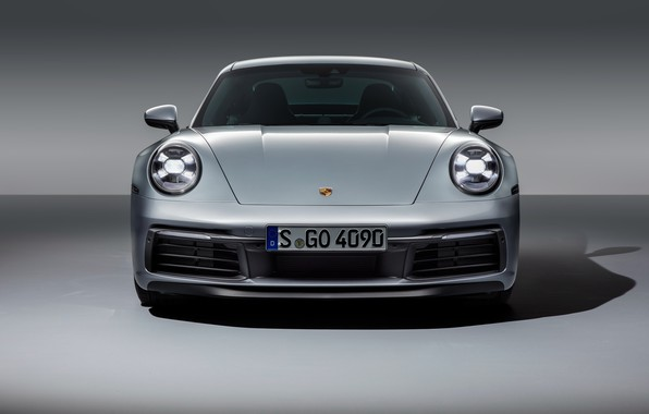 Картинка 911, Porsche, вид спереди, Carrera, Carrera 4S, 2019