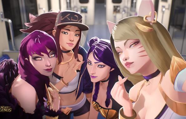 Картинка Art, Girls, League Of Legends