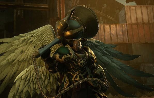 Картинка крылья, воин, game, архангел, Darksiders III, Узиэль