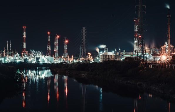 Картинка ночь, город, Taiwan, Kaohsiung
