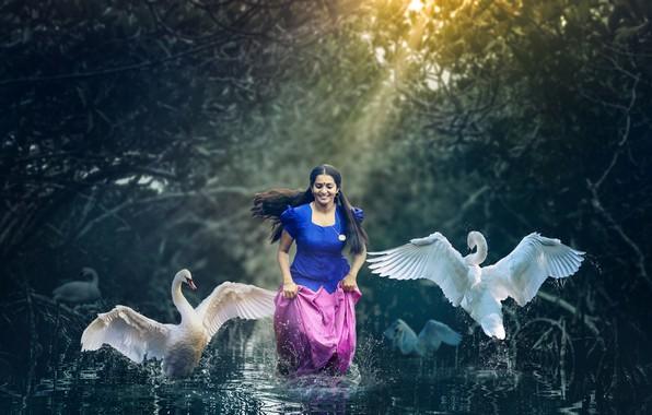 Картинка girl, smile, beautiful, model, pose, indian, photoshoot