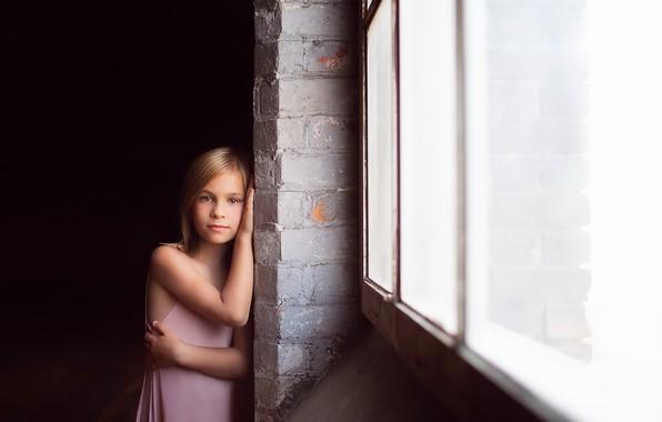 Картинка взгляд, окно, девочка