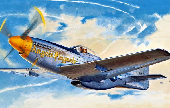 Картинка Mustang, истребитель, USA, USAF, North American, P-51D, дальнего радиуса действия, 354th Fighter Group, Модификация, 353rd ...