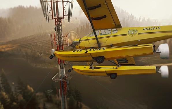 Картинка самолёт, plane, far cry 5 plane, far cry 5, фар край 5, теплый фильтр
