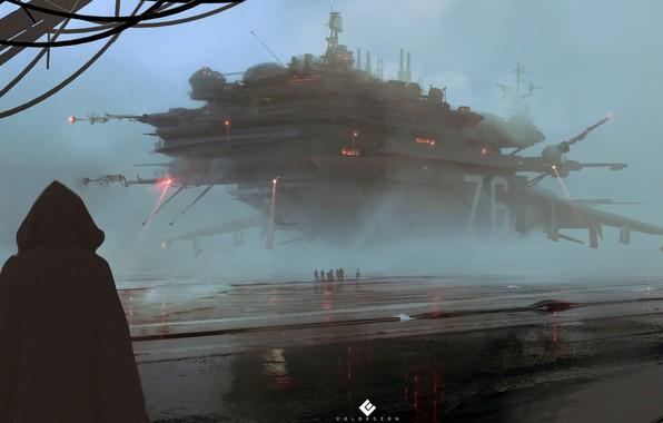 Картинка Fantasy, Арт, Art, Космический Корабль, Фантастика, Concept Art, Spaceship, Vehicles, Science Fiction, Spacecraft, Col Price, …