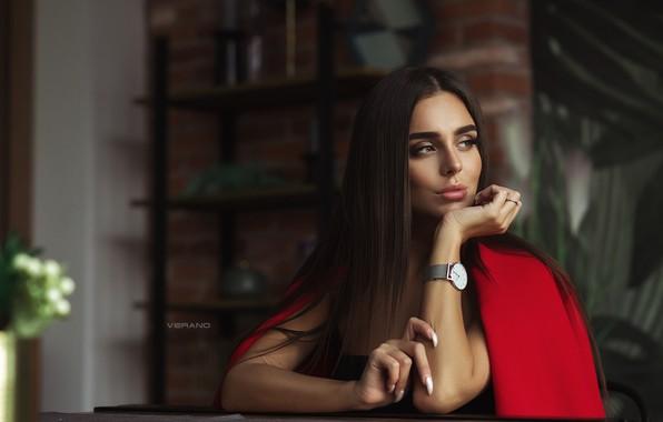 Картинка взгляд, часы, Девушка, Nikolas Verano, Anastasiya Leonova, Анастасия Леонова
