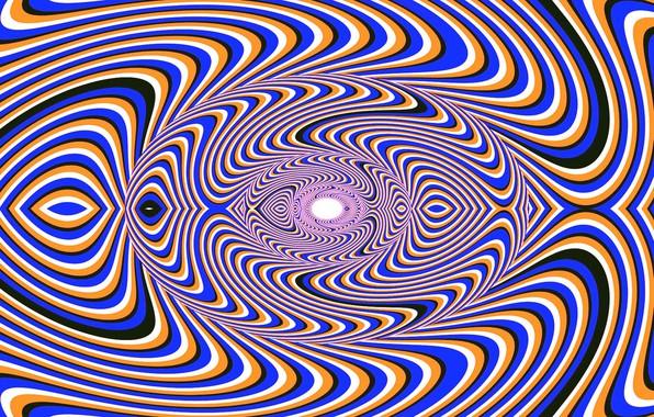 Картинка Цвет, Линии, Фон, Воронка, Иллюзия, Оптическая иллюзия, Обман зрения