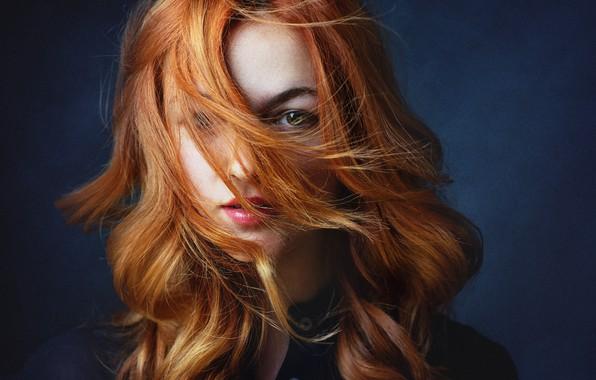 Картинка взгляд, девушка, волосы, рыжая, Juliet, Zachar Rise