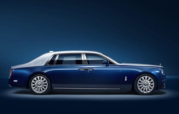 Картинка Rolls-Royce, Phantom, вид сбоку, 2018, EWB Chengdu, Privacy Suite
