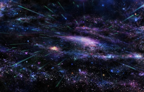 Картинка космос, звезды, полет, частицы, пространство, вселенная, вспышка, space, universe, flight, stars, flash, particles