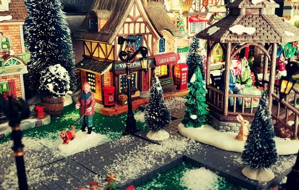 Картинка Christmas, Holiday, Village