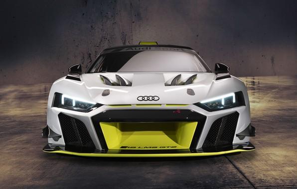 Картинка Audi, фары, спорткар, Audi R8, GT2, LMS