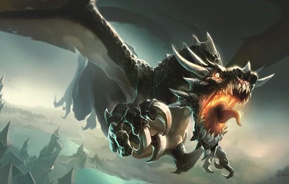 Картинка Дракон, Монстр, Ярость