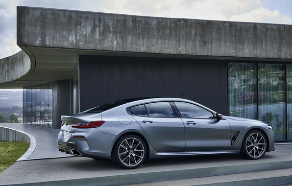 Картинка купе, BMW, профиль, Gran Coupe, у дома, 8-Series, 2019, четырёхдверное купе, 8er, G16