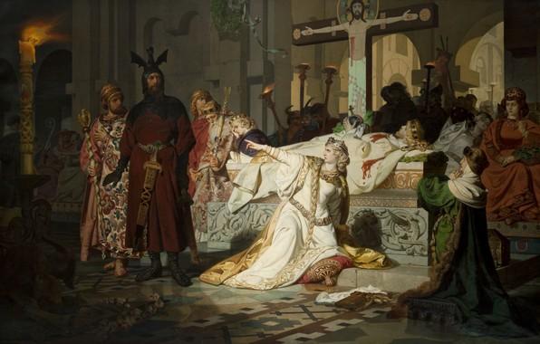 Картинка 1879, oil on canvas, Czech painter, чешский художник, National Gallery in Prague, Национальная галерея в …