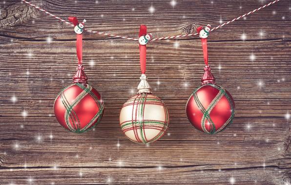 Картинка украшения, шары, Новый Год, Рождество, christmas, balls, wood, merry, decoration