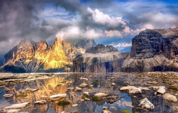 Картинка горы, природа, берег