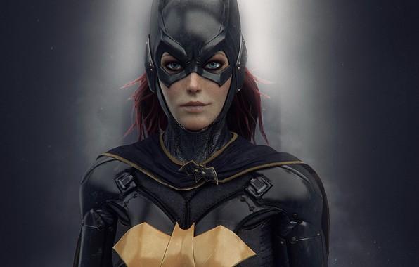 Картинка девушка, маска, костюм, girl, броня, suit, DC Comics, бэтгёрл, batgirl, Barbara Gordon, Batman Arkham Knight, …