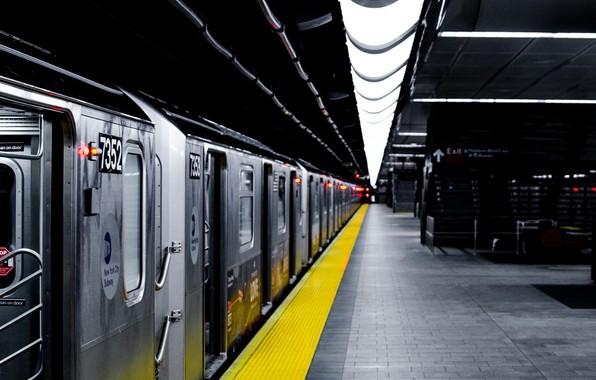 Картинка метро, поезд, станция, подземка