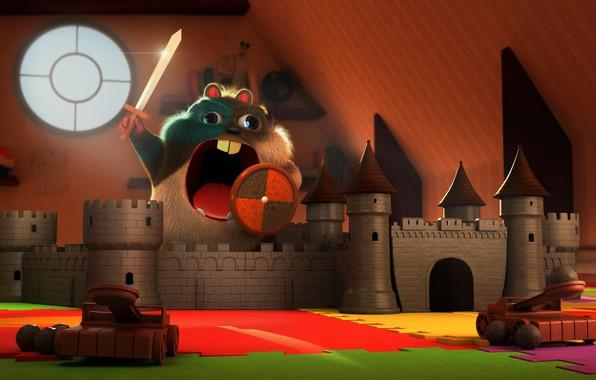 Картинка замок, игра, арт, детская, хомячок, Stef Velzeboer, Rise of the Hamsterus
