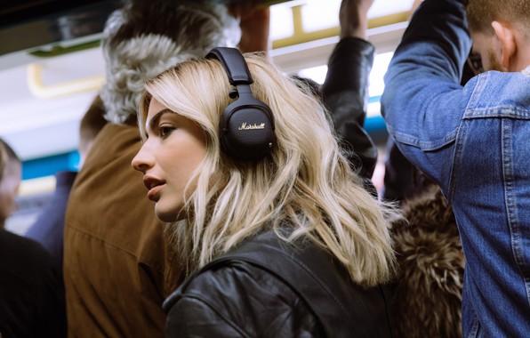 Картинка headphones, Marshall, беспроводные наушники, Bluetooth гарнитура, wireless noise-cancelling headphones, Маршалл, Marshall Mid ANC Bluetooth Black