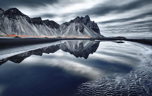 Картинка море, берег, Исландия