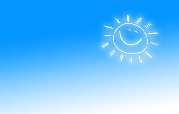 Картинка небо, улыбка, солнышко, хороший день