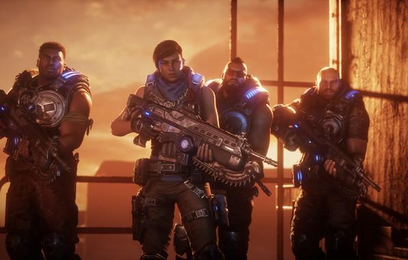Картинка Microsoft, Оружие, Персонажи, Gears 5