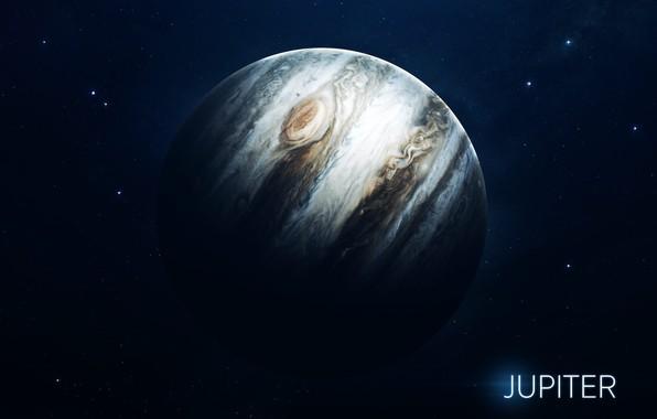 Картинка Звезды, Планета, Космос, Ягоды, Юпитер, Арт, Stars, Space, Art, Planet, Система, Jupiter, Berries, System, Солнечная ...