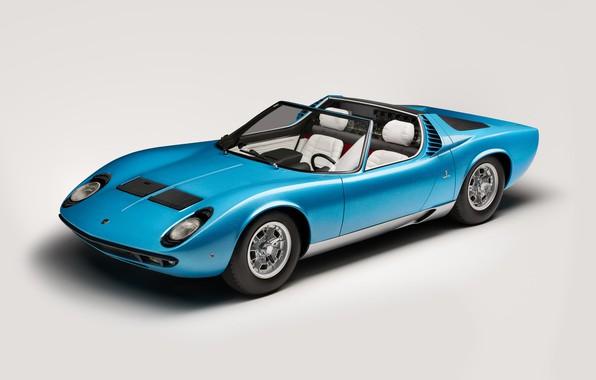 Картинка Lamborghini, Classic, Miura, 1968, Classic car, Lamborghini Miura, Lamborghini Miura Roadster