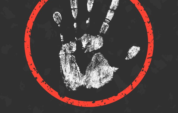Картинка white, warning, message, poster, hand, fingers, abuse
