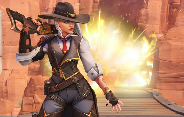 Картинка Blizzard, Overwatch, game, Ashe