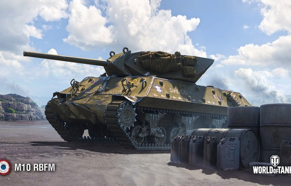 Картинка WoT, World of Tanks, Wargaming, M10 RBFM