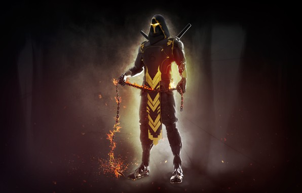 Картинка Mortal Kombat, Scorpion, Characters, Science Fiction, Mendez Cakson, Comic Art, by Mendez Cakson