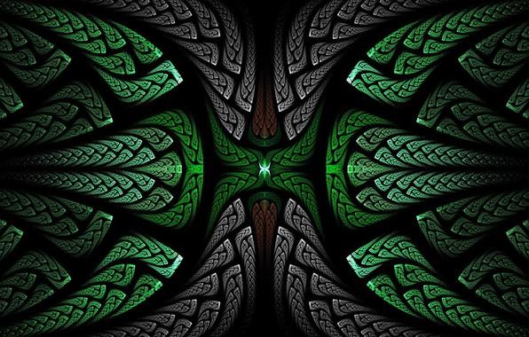 Картинка узор, объем, симметрия