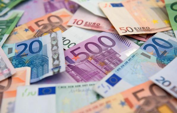 Картинка размытие, евро, валюта, купюры, euro, currency