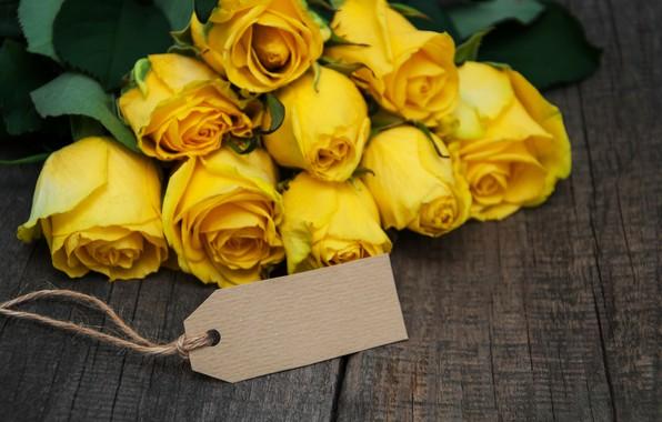 Картинка розы, букет, желтые, yellow, flowers, roses